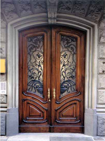 Входная деревянная дверь из массива дуба - Входные
